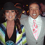 Linda Litzinger Beck with Smokey Robinson at Thalians House of Blues Sunset 042614
