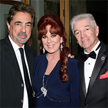 Linda with Joe Mantegna and Tom Dreesen Sinatra Invitational Gala VIP party Feb 2014