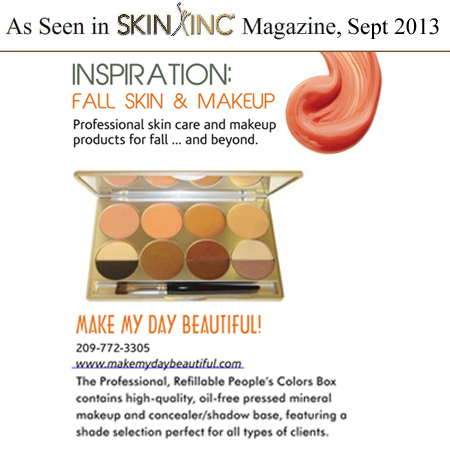 Peoples Colors Box as seen in Skin Inc Magazine Sept 2013